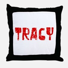 Tracy Faded (Red) Throw Pillow