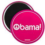 Pink Obama Peace Magnet