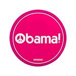 Pink Obama Peace 3.5