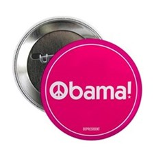 """Pink Obama Peace 2.25"""" Button (10 pack)"""