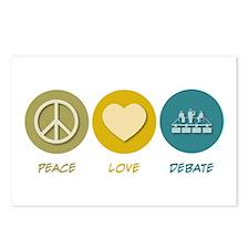Peace Love Debate Postcards (Package of 8)