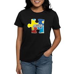 Autism Awarness Puzzle Women's Dark T-Shirt
