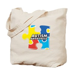 Autism Awarness Puzzle Tote Bag