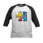 Autism Puzzle Kids Baseball Jersey