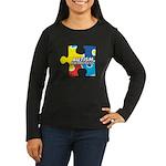 Autism Puzzle Women's Long Sleeve Dark T-Shirt