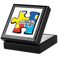 Autism Awarness Puzzle Keepsake Box