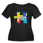 Autism Puzzle Women's Plus Size Scoop Neck Dark T-