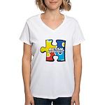 Autism Puzzle Women's V-Neck T-Shirt