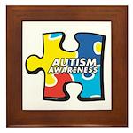 Autism Awarness Puzzle Framed Tile