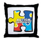 Autism Awarness Puzzle Throw Pillow