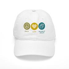 Peace Love Database Design Baseball Cap
