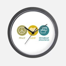 Peace Love Database Administration Wall Clock