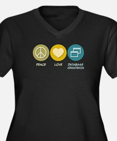 Peace Love Database Administration Women's Plus Si