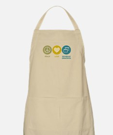 Peace Love Database Administration BBQ Apron