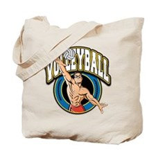 Men's Volleyball Logo Tote Bag