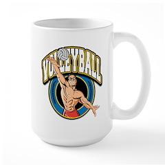 Men's Volleyball Logo Mug
