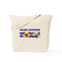 Autism Awareness Puzzle Piece Tote Bag