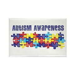 Autism Awareness Puzzle Piece Rectangle Magnet (10