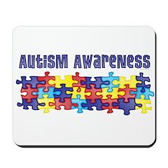 Autism Awareness Puzzle Piece Mousepad