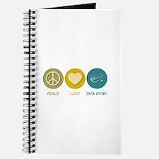 Peace Love Data Entry Journal
