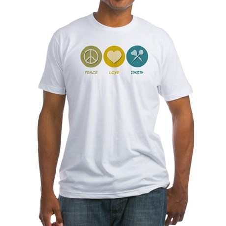 Peace Love Darts Fitted T-Shirt