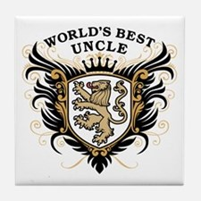World's Best Uncle Tile Coaster