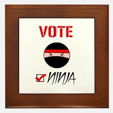 Vote Ninja Framed Tile
