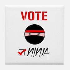 Vote Ninja Tile Coaster
