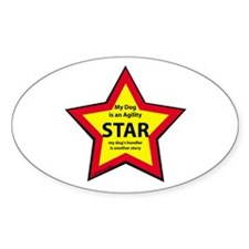 Agility Star Oval Decal