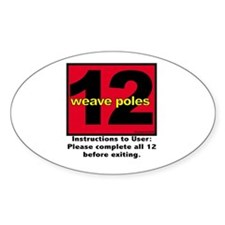 12 Weave Poles Oval Decal