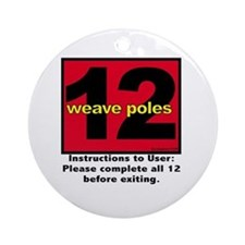 12 Weave Poles Ornament (Round)