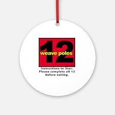 12 Weave Poles Ornament (Round)