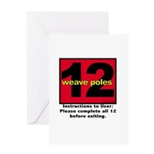 12 Weave Poles Greeting Card