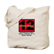 12 Weave Poles Tote Bag