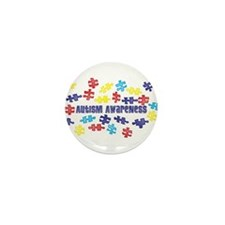 Autism Awareness Puzzle Piece Mini Button (10 pack