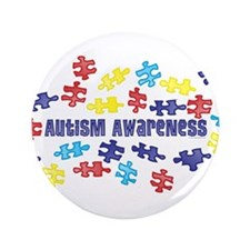 "Autism Awareness Puzzle Piece 3.5"" Button (100 pac"