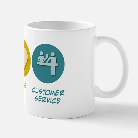 Peace Love Customer Service Mug