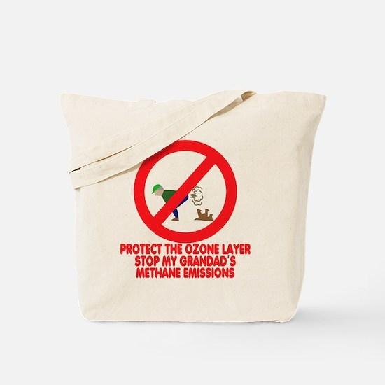 Funny farting Grandad Tote Bag