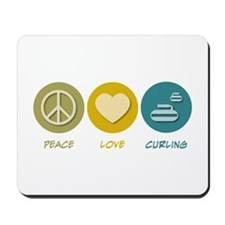 Peace Love Curling Mousepad