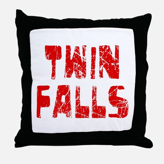 Twin Falls Faded (Red) Throw Pillow