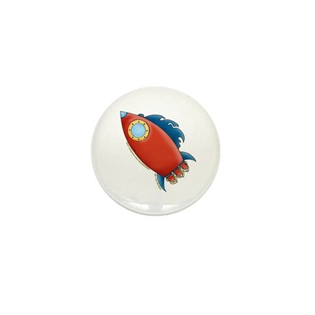 Cute Rocket Picture 2 Mini Button (100 pack)