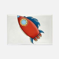 Cute Rocket Picture 2 Rectangle Magnet
