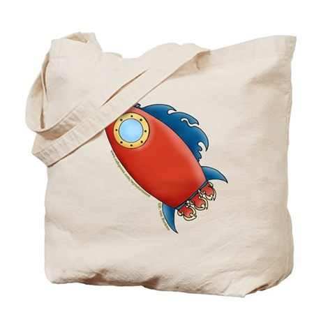 Cute Rocket Picture 2 Tote Bag