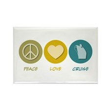 Peace Love Cruise Rectangle Magnet