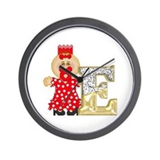 Baby Initials - E Wall Clock