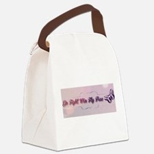 Go Fight Win Fly Free Canvas Lunch Bag