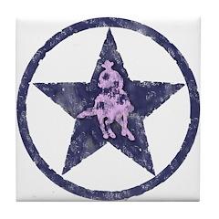 Texas Star Pink Turnaround Tile Coaster