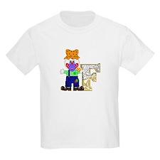 Baby Initials - F Kids T-Shirt