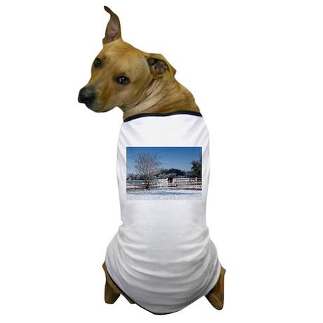 Snow at the Ranch Dog T-Shirt