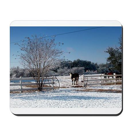 Snow at the Ranch Mousepad